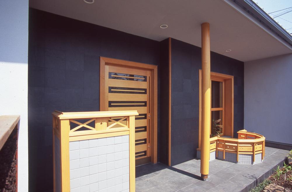 濡れ縁 玄関ドア(木製)
