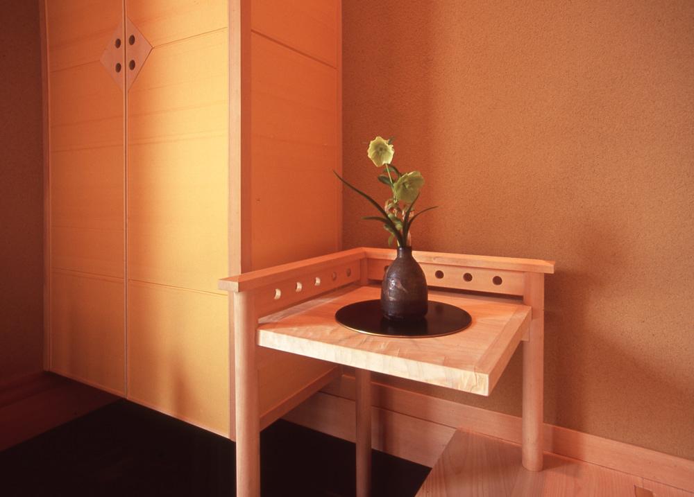 玄関 飾り棚 独楽蔵 建築家