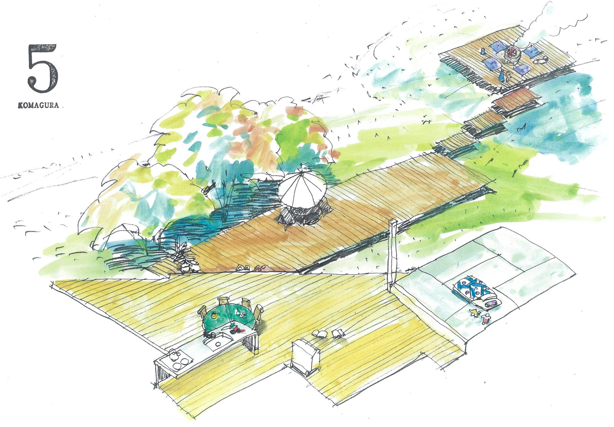 デッキテラス 庭が広い