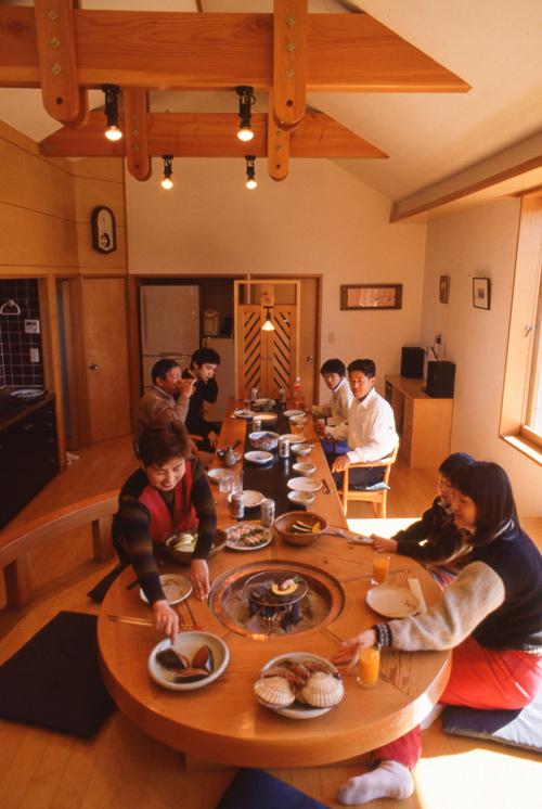 家族で宴会 ホームパーティ