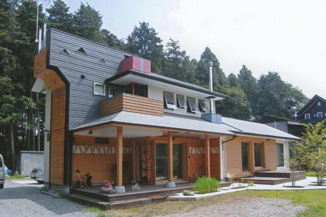 【クライミングウォールのある家】設計事務所の自由設計 自然素材の家づくりの画像