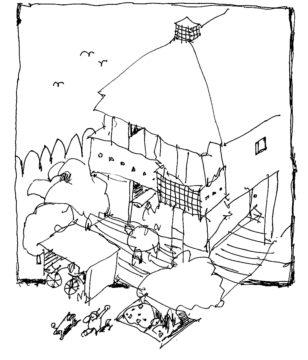 川越市新宿町 向こう三軒両隣 街中の家(西側)の画像