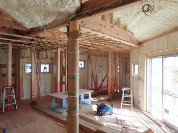 断熱材 アクアフォーム施工の画像