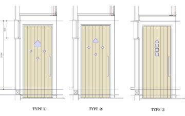 玄関ドアデザイン ボツ案の画像