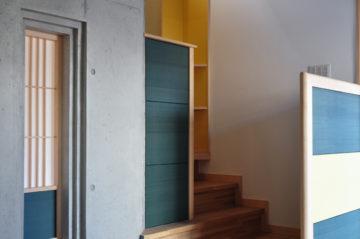和紙&白木とコンクリート打ち放しは、とっても相性がいいの画像
