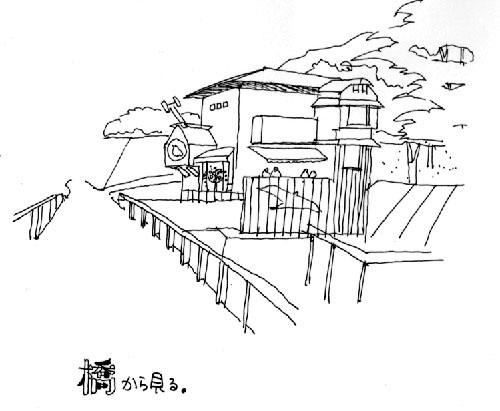 山鳩山荘 イラスト計画案家づくり住宅設計は独楽蔵