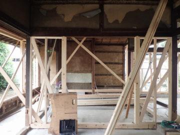 築100年の民家の改造 耐震補強の画像