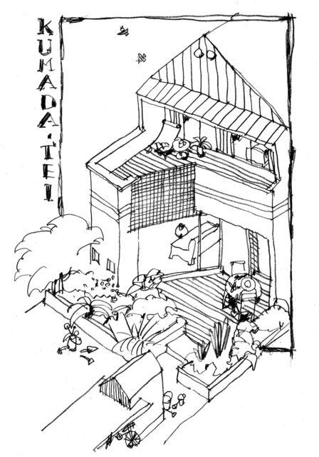 川越市新宿町 街中の家(土間路地のある家)家づくり:イラスト計画案の画像