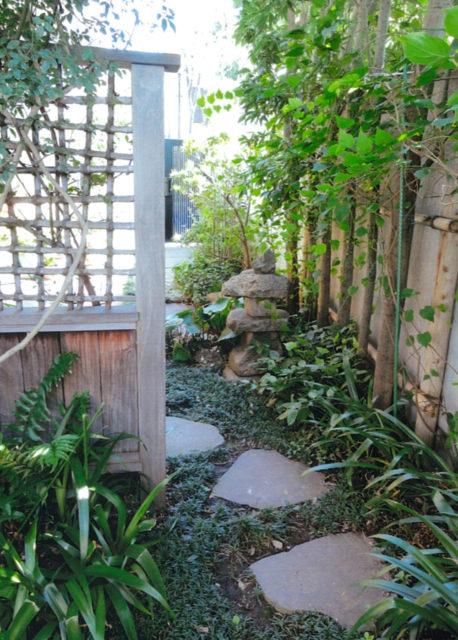 庭のアプローチ