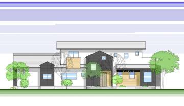 【大分県 長湯温泉 丘の上の家&長湯鍼灸院】のイラスト計画案の画像