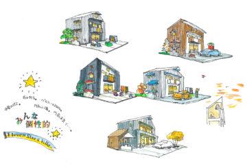 子育て世代のための戸建て賃貸住宅 5棟(上尾市)イラスト/間取り 計画案の画像