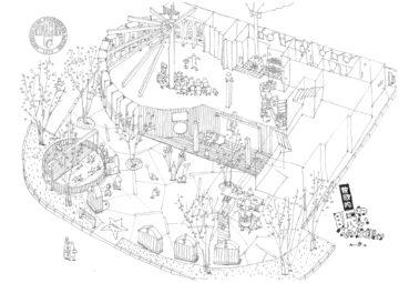 【住宅展示場 新座・朝霞ハウジングステージ】 センターハウス コンセプトイメージイラストの画像