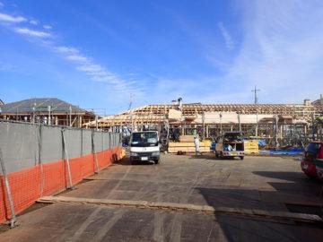 かぴら幼稚園 第2園舎新築工事 上棟約1週間後の画像