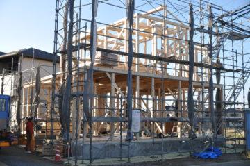 川越市南大塚の住宅工事現場 上棟の画像