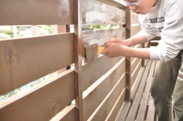 【家の外部(木部)を木材保護塗料でメンテナンス】『家づくり』その後の画像