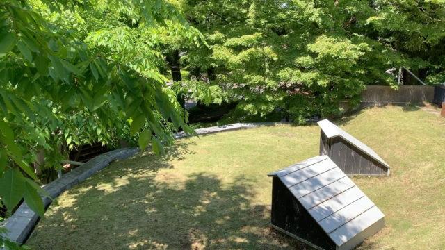 【武蔵野の雑木林 林間の秘密の芝庭】設計事務所のアトリエの画像