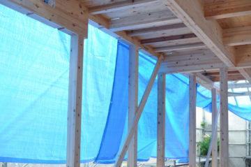 【木造住宅(入間市)の上棟から3日後】の画像