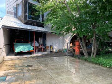 建築設計事務所 アトリエの屋根(30年経過)を高圧洗浄機で屋根洗いの画像