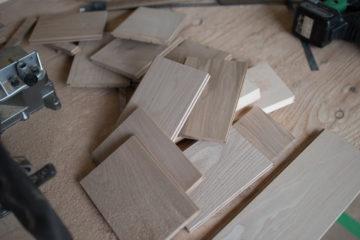 【タモ材(無垢材)の壁をつくる】設計事務所の家づくり(入間市)の画像