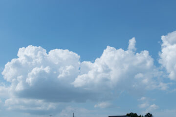 夏の入道雲。来年は完成した家の窓から(狭山市の家づくり)の画像
