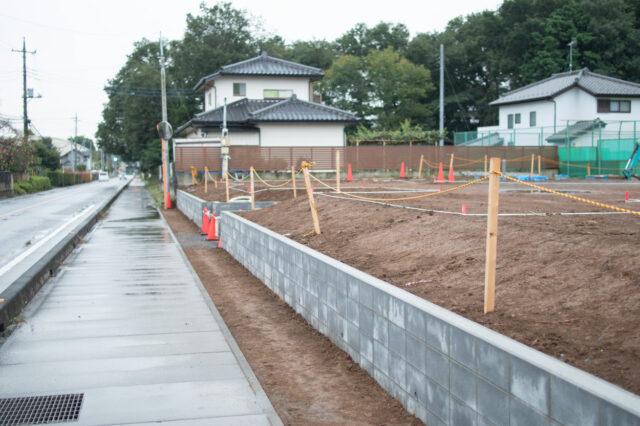 【東松山市の木造新築デイサービス施設の建設現場】(土工事)の画像