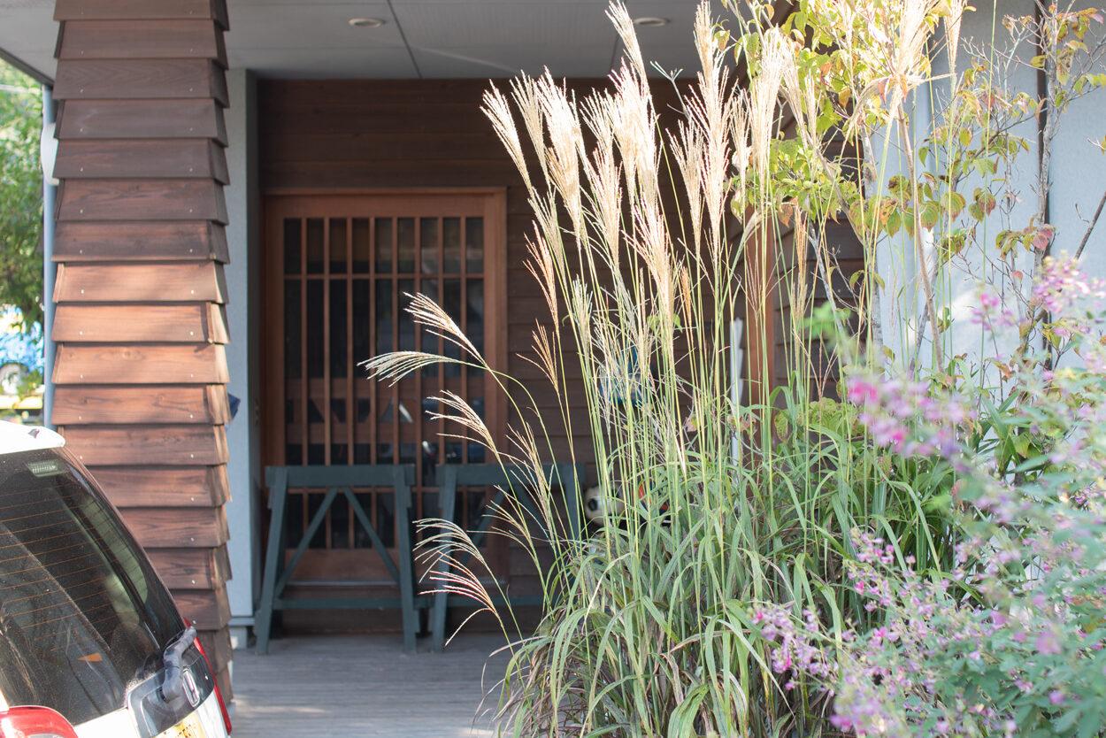 ススキ,萩の花、庭づくり,日高市、住宅デザイン