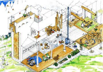 クライミングウォールのある家(イラスト計画案)の画像