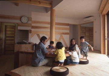 【平屋空間+子供小屋】国産無垢材の家(福島県福島市)の画像
